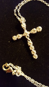 Sterling silver cross and 18